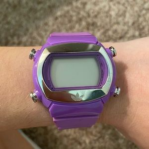 Adidas Digital Purple Watch